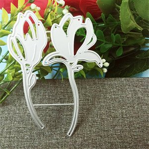 Painting Supplies 2pc Flower Metal Cutting Dies 2021 For Scrapbooking Cards Paper Deco Stencil Template Stamps And Christmas