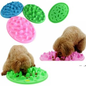 3 Colors Pet Dog Puppy Silicone Slow Eating Bowl Anti Choking Food Water Dish Slow GWD10023
