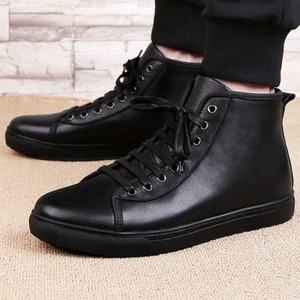 Men ankle Boots genuine Leather winter British style plush warm outdoor 's Fashion snow big size 48 j3 e0Ij#