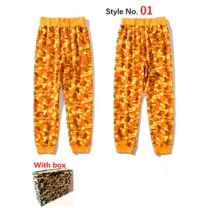 Pantalones para hombre pantalones de alta calle para mujeres pantalones deportivos pantalones de chándal reflectantes para hombre casual hip hop camo streetwear camo de alta calidad con caja