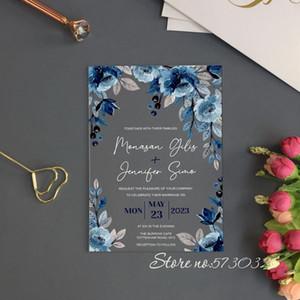 Invitación acrílica de la boda rosas de la flor de la flor de la invitación de la boda de acrílico de la boda de la invitación de la boda de la invitación de la invitación de la invitación de la invitación tarjetas