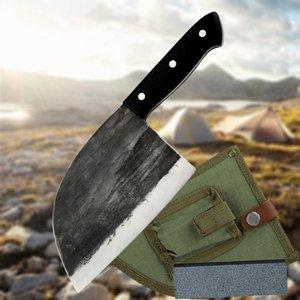 Кухонные шеф-повар кухонные шеф-повар ручной работы по шеф-повару полное тан высокого углерода мясник нож мясных ножей мясных ножей
