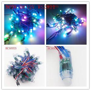 Strips 1000pcs 12mm WS2811 2811 2811 IC PIXEL PIXEL LED Modulo Lampada DC 5V / 12V Ingresso IP68 impermeabile RGB Digital