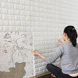Wall Stickers DIY 3D Self-adhesive Wallpaper Home Creative TV Background Foam Brick Decorative Waterproof Sticker