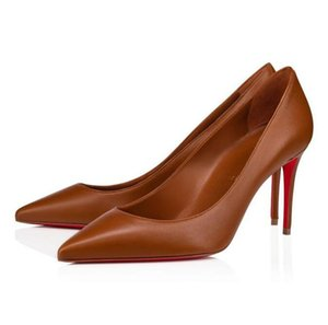 Perfect Designer Kate Pointed Toe Sexy Women Pumps Bridal Wedding Party Ladies Famous High Heels Nude Black, Red Brown