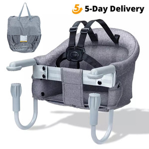 Orzbow Portable Baby Highchair Foldable Feeding Chair Seat Booster Safety Belt Dinning Hook-on Chair Harness Baby Seat For Table 210226
