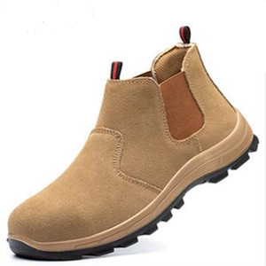 Welder Shoes Steel Toe Stab Safety Shoes Fire Flower Anti-splash Protection Shoes High Temperature Labor Protection Work Boots