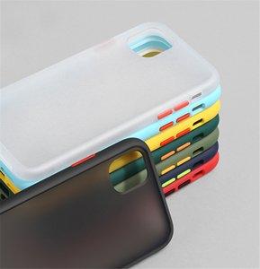 Mint Hybrid Simple Matte Bumper Phone Case For iPhone 12 11 Pro Max Mini X Xr Xs SE 2020 7 7plus 8 8plus 6s 6 Camera Protection