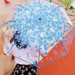 Umbrellas 98*59cm Transparent Automatic Open Close Fold Windproof Umbrella For Travel Women Sun Rain Auto Compact Style