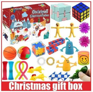 جديد! DHL Favors تململ اللعب عيد الميلاد مربع المكفوفين 24 أيام مجيء التقويم العجن الموسيقى هدية العد التنازلي 2021 هدايا الأطفال BT20