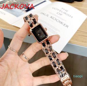Montre de Luxe Chain Bracete Часы Женщины импортированные кварцевые движения Прекрасные стальные корпус Роскошные наручные часы