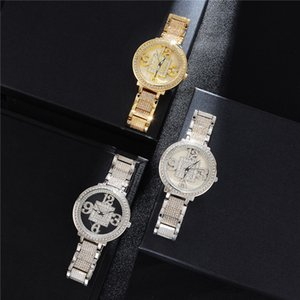 New Fashion Mens Watch Hip Hop Bling Diamond Iced Out Watches Quartz Movement Mens Watches Nice Gift