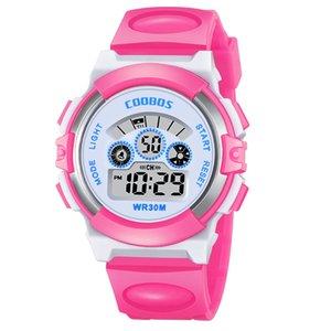Digitale elektronische leuchtende armbanduhr 30m wasserdichte kinderuhren pin schnalle sportuhr für jungen und mädchen