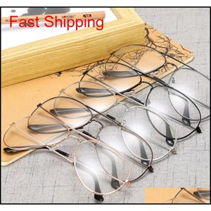 Nouveau cadre de lunettes de soleil classique cadre de lunettes de soleil cadre de cadre décoratif de mode avec des lentilles claires Vintage lunettes de vue QYYPor Bdeoys