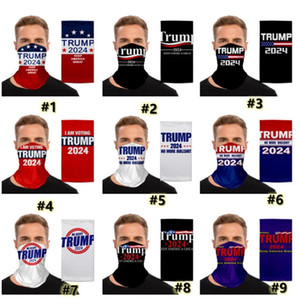Trump 2024 Magic Sport Scarf Cycling Masks Women Mens US Presidential Election Motorcycle Scarves Headscarf Neck Outdoor Face Mask G3301