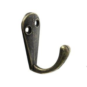Wholesale- Ropa de prongontación de una sola prongubera Robe Bolso Hat Hook Hanger Antique Bronce AHB5330