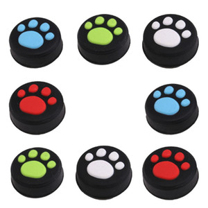 Cat Paw Anti-Slip Silicone Cat Pad Joystick Thumb Stick Caps Cover for PS4 PS3 PS2 Xbox 360 Game Controller