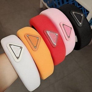 2021 explosion sponge letter headband simple personality wash hair accessories complete color matching high-end boutique big brand free ship
