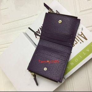 Best quality short wallet Classic Wallet Hot Quality Women Short Card Holder Damier Checked Flower Makeup Bag Wallets Ends
