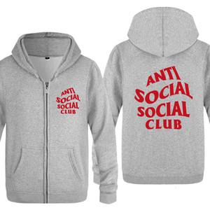 Men's Zipper Sweater Assc Anti Social Club Hip Hop