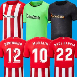 21 22 Bilbao Soccer Jersey Athletic Raul Garcia Berenguer Williams 2021 2022 Villalibre Muniain حارس مرمى الرجال Camiseta Football Shirt
