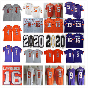 Мужская молодежная Клемсон Тигры Deshaun Watson DJ Uiagalelei Trevor Lawrence Hunter Renfrow Lustyn Ross Travis Ethienne Jr. NCAA Collage