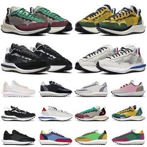 2020 sacai shoes VaporWaffle LD Waffle الهراء من الرجال والنساء الاحذية لعبة نبتون الأخضر الملكي الأبيض نايلون قمة أبيض أزرق متعدد رجل المدربين الرياضية حذاء رياضة