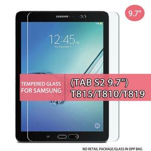 """Застреленное стекло планшета для закаленного стекла для вкладки Samsung Galaxy Tab S2 9,7 """"T815 T810 T819 9,7 дюйма стекла в мешок OPP"""