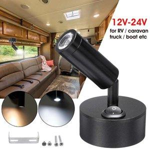 12-24V LED Interior Spotlight Desk Reading Spot Lights Bedroom Wall Lamps For Car Auto Home Hotel RV Motorhome