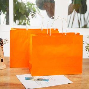 كرافت ورقة حقيبة الملابس هدية حقيبة تسوق صديقة للبيئة ورقة حقيبة بيع التعبئة حقيبة هدية التفاف