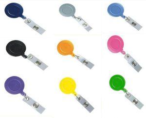 Badge Reels Retractable Flat Custom Pull Badge Reel Lanyard Retractable Keychain ID Name Tag Card Holder On
