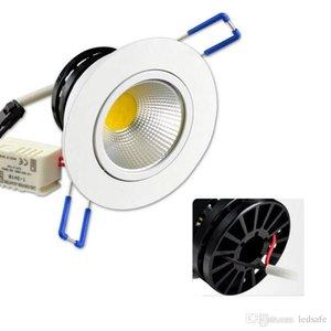 MOQ20 COB COUVÉNÉ LED CLASSED Downlight Ampoule 3W 5W 7W 9W 12W 15W Downlights AC 85-265V Intérieur Home Supermarché Éclairage décoratif WW CW