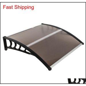 100x100cm Praktische Regenabdeckung Eauves DIY Fenster PC Markise Sun Shade Canopy Polycabonat Haushaltsanwendung doo Qyljfr Bdenet