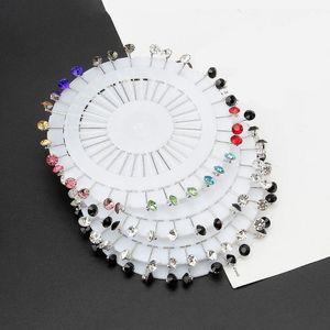 30Pcs Muslim Jewelry Rhinestone Crystals Hijab Pins Wedding Brooch Pin for Women