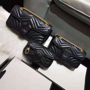 Newset Handtasche Designer Messenger Bag Umhängetaschen Luxus Frauen Lady Classic Echtes Leder Kette Handtaschen Geldbörse 01