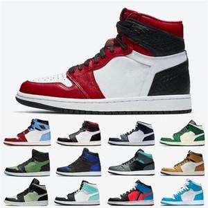 Saten Yılan Yüksek Düşük Erkek Basketbol Ayakkabıları 1 S Phantom OG Siyah Beyaz Yeniden Satış Erkekler Kadınlar için Değil Spor Sneakers 5.5-13
