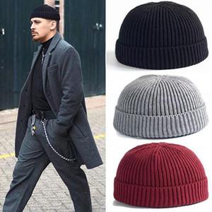 25# Fashion Unisex Keep Warm Winter Casual Knitted Hat Wool Hemming Hat Ski Unisex Skullcap Warmer Beanies Winter