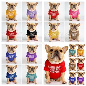 Pet Dog Clothes Puppy Cotton Turtleneck T-shirt Cat Dog Clothes T Shirt Dogs Shirt Fashion Designs Alphabet Pet Dog Clothing 12Color RRC6049