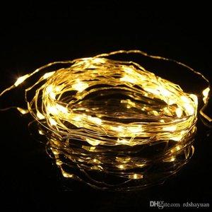 5m 50 LED 3xAA APOTO BATTERÍA OPERADO LED Luz de hada para Navidad Guirnalda Partido Casa Decoración de la boda Cálido blanco / blanco frío