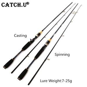 Catch.U canne à pêche routine canne à pêche canne à pêche S1.8M M Puissance 7-25G Test 100% Pole de leurtre en fibre de carbone