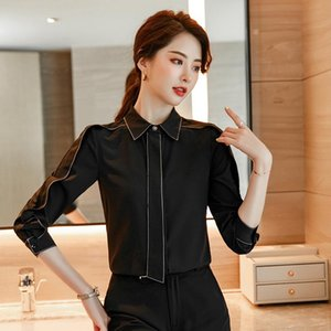 Novelty Pink Formal Styles Long Sleeve Women Blouses Shirts Office Ladies Tops Blouse Business Work Wear Clothes Blusas