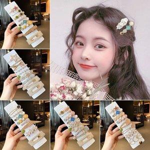 Koreaner drei Stück Set Pearl Handmade Herzförmige Wassertropfen Kristall BB Clip Haarnadel Weibliche 6WC2