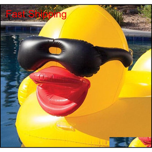 POOL FLOATS RATT 82.6 * 70.8 * 43.3 дюйма плавание желтая утка FLOBS RAFT Утолщение гигантской PVC надувной утиный бассейн F QYLXXN DH_SELLER2010