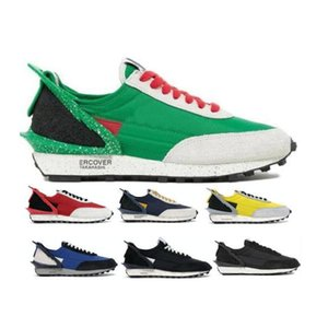 2021 New Daybreak Mens Women Running Shoes LDV Waffle Obsidian Black Sail Blue Jay Bright Citron Lucky Green Red Tenis Trainers Shoes