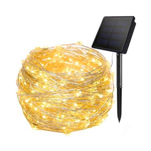 Strings 10M 50M 100M Solar String Lights Outdoor Copper Wire Star Twinkle Fairy Christmas Party Patio Garland Light