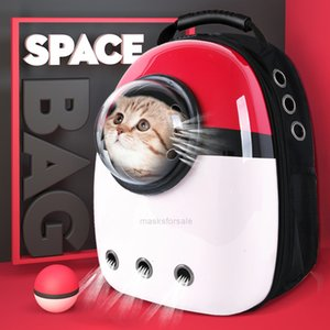 Double Small Puppies Dog Cat Travel Carrier Backpack Shoulder Pet Handle Bag Breathable Space Capsule Bag 3HSI