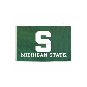 Quality Michigan State High Spartans S Flag NCAA Team Flag 3x5Ft Double Stitched Banner 90x150cm Sports Festival DigitalEEYD Ojelp
