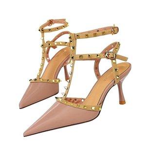 Роскошная женщина тапочки топ качественный дизайнер леди сандалии летняя мода слайд высокий каблук повседневная обувь женщин