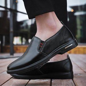 Мужская обувь натуральная кожа весна осень дышащая деловая повседневная мокасина обувь формальная легкая простая Adulto N5TO #