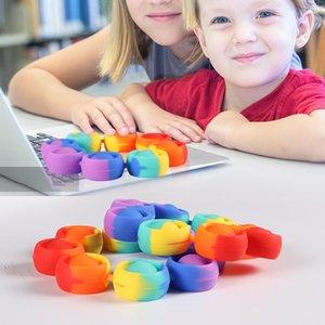 party Pop Fidget Reliver Stress Toys Rainbow Bracelet Push Bubble Antistress bauble Adult Children Sensory Toy To Relieve Autism